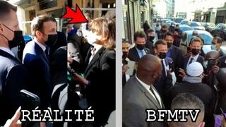 Le bain de foule d'Emmanuel Macron dans le 18e arrondissement de Paris vu par BFMTV vs la réalité