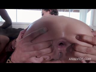 [ / ] Lady Milf and Polly Petrova fist each other by the pool and get fucked with double penetration