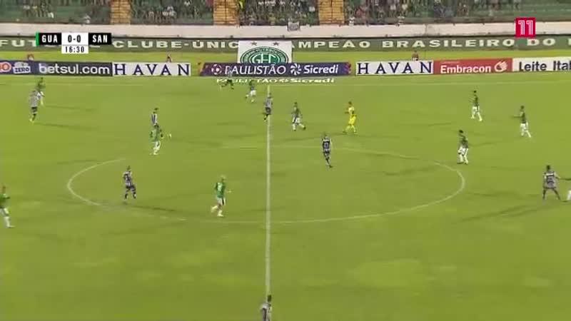Чемпионат Бразилии 2020 Паулиста Гуарани - Сантос 1 тайм
