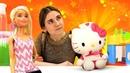 Видео про игры в Куклы Барби. Приключения Хелло Китти, Барби и Кена. Игрушки для детей