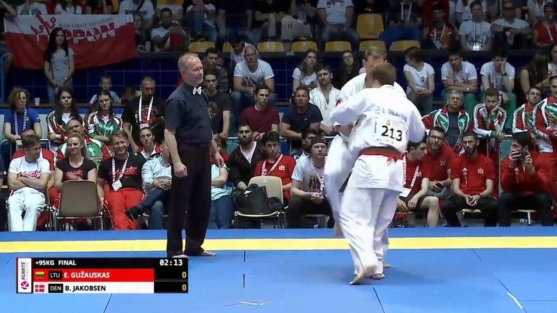 KO Eventas Gužauskas Lithuania VS Brian Jakobsen Denmark EC 2018 Poland