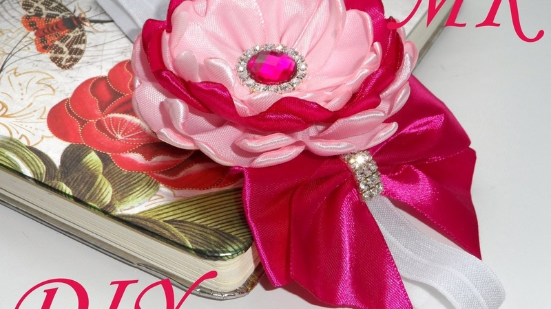 МК Повязка канзаши для девочки МК Дюшеска канзаши DIY The bandage kanzashi