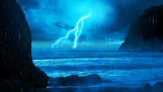 Thunderstorm & Rain Sounds with Ocean Waves | White Noise 10 Hours for Sleeping, Studying
