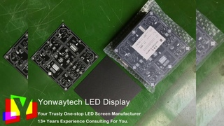 Configured 4 layers  PCB board p2.5 45 DEG. chamfer led display for tailored digital pillar.