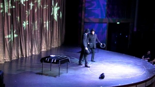 Comedy hat juggling Steve and Jay Rawlings
