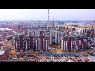 ЖК Притяжение Setl City : Ход Строительства Новостройки в Выборгском районе СПб (апрель 2021)