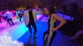 Bachata social dance / Sergey Gazaryan & Irina Nazarenko @ Hot Winter in Siberia 2021
